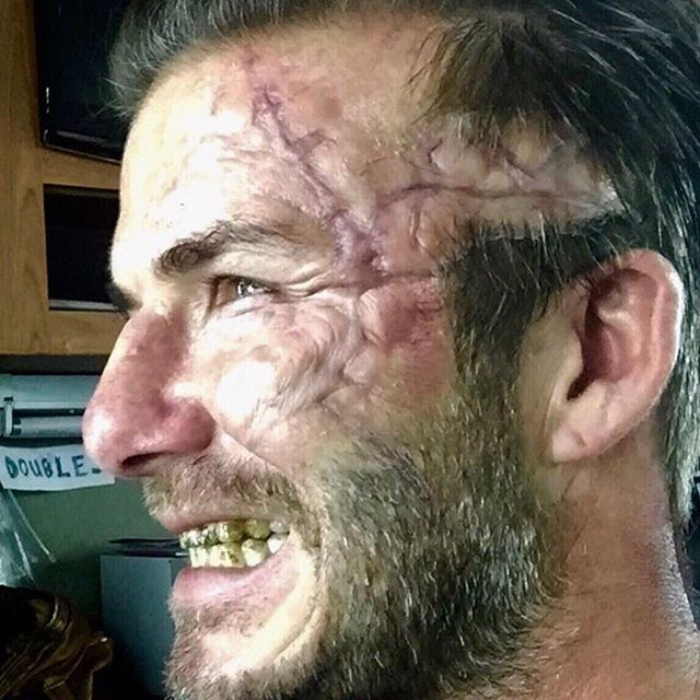 David Beckham Looks Gruesome On The Set Of King Arthur