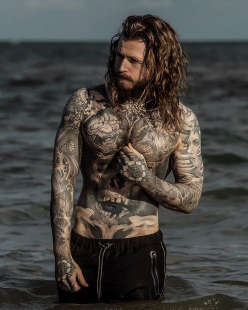 Meet the man who tattooed his weight loss scars and for Tattooed single men