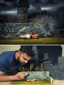 Photographer Creates Epic Outdoor Sets Using Very Little Money