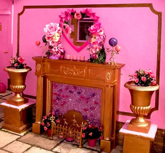 This Home Is Perfect For Anyone Who Loves The Color Pink