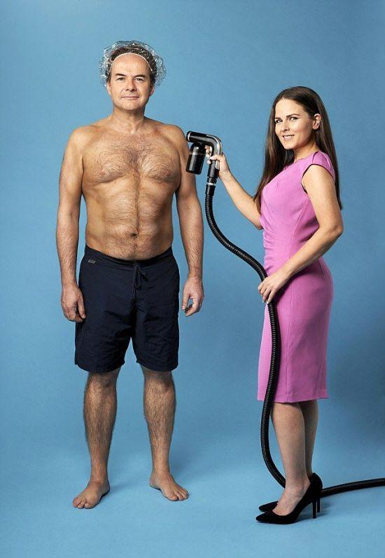 Artificial Tan Gives British Man Fake Muscles