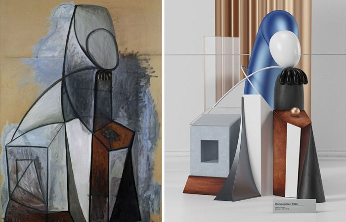 What Pablo Picasso's Paintings Look Like As Sculptures