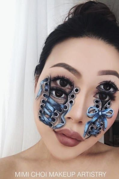 Mind-Blowing Optical Illusions Brought To Life Using Makeup