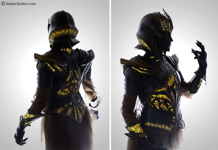 Woman Spends 518 Hours Making Futuristic Medieval Armor