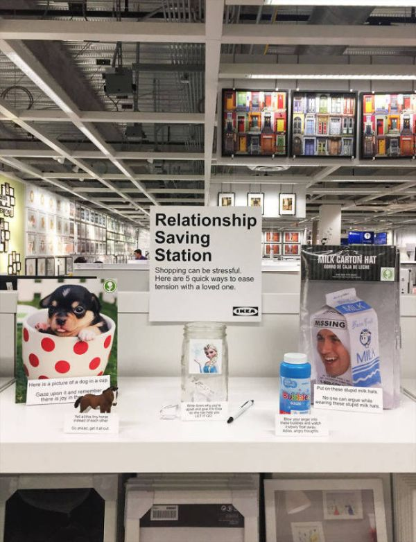 Guy Installs A Relationship Saving Station At IKEA