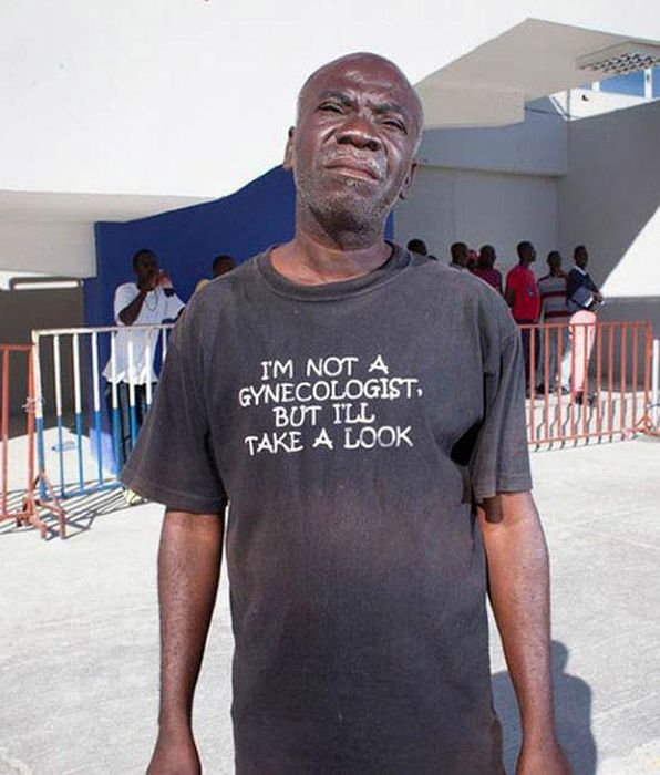 Hilarious Old People With Inappropriate Slogans On Their Shirts