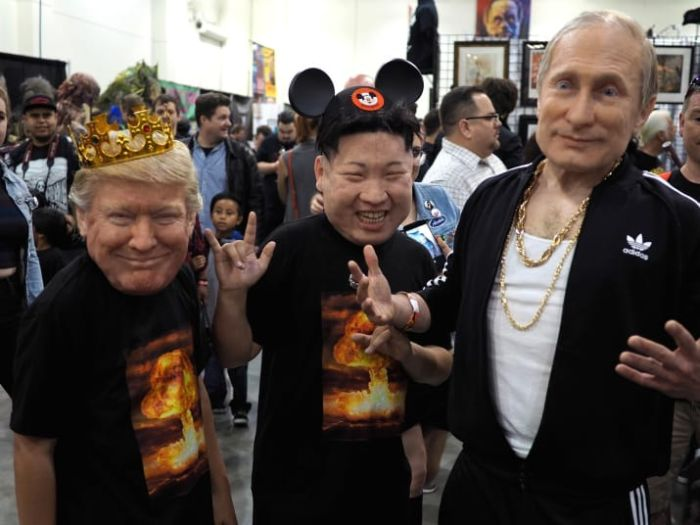 These Donald Trump Vladimir Putin And Kim Jong Un Masks