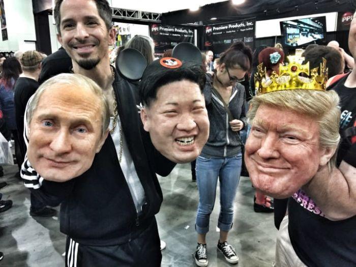 These Donald Trump, Vladimir Putin, And Kim Jong-Un Masks Are Creepy