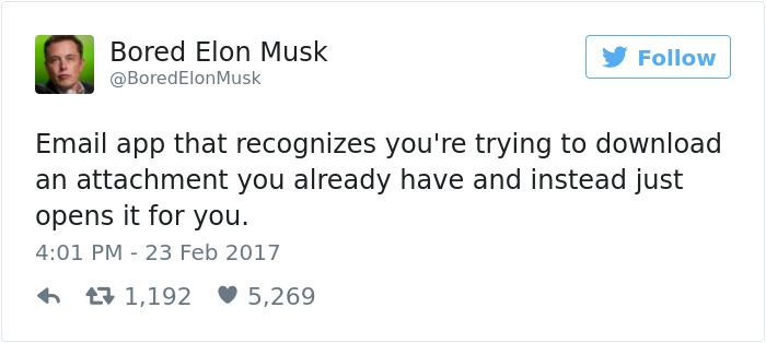 Bored Elon Musk Has Some Pretty Brilliant Ideas