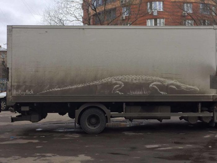 Dirty Car Owners Find Amazing Drawings On Their Vehicles