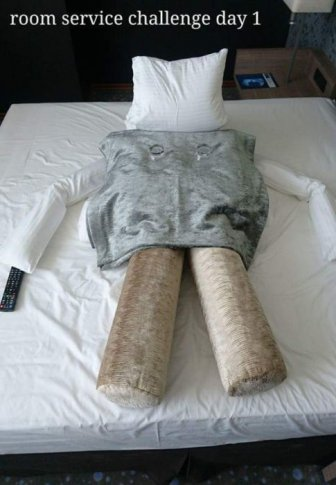 Guest With A Sense Of Humor Challenges Hotel Maids