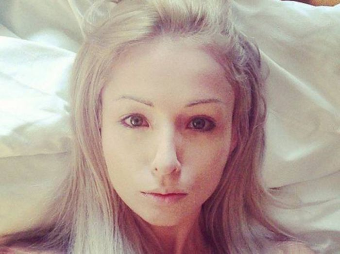Ukrainian Barbie Girl Shows Off Her No Makeup Photos