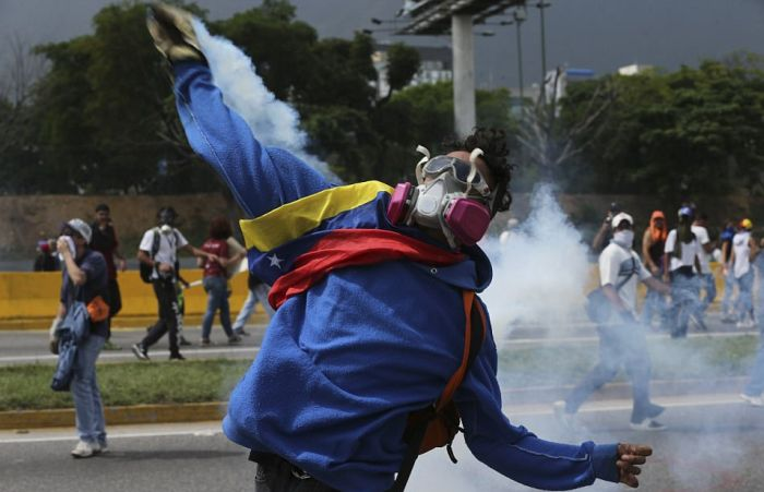 Millions Of Protesters Take To The Streets Of Venezuela