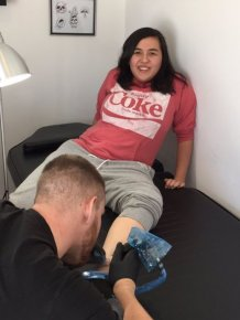 Girl Makes The Mistake Of Letting Her Friend Choose Her First Tattoo