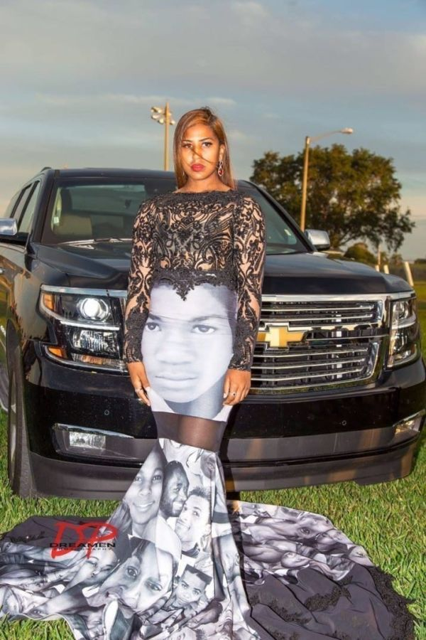 Teen Wears Dress To Prom With The Faces Of Black Police Brutality Victims