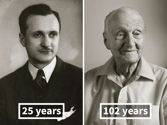 Pictures Of People As Young Adults And 100 Year Olds