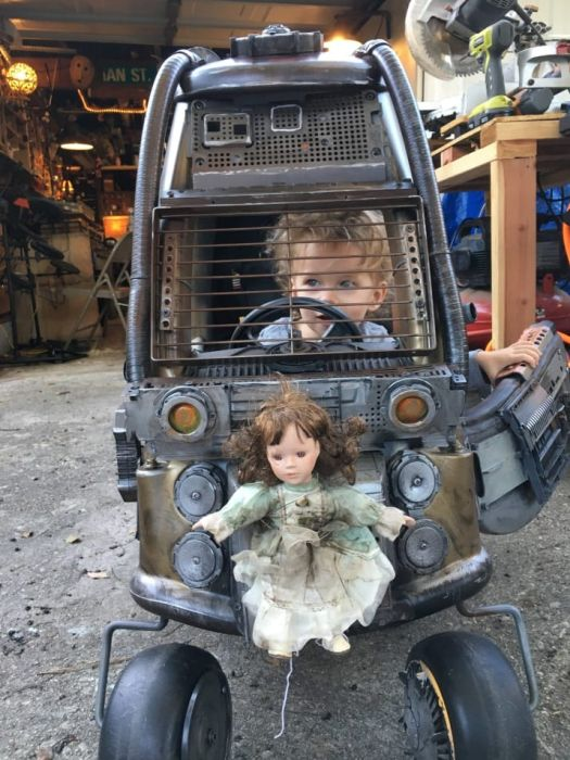 Dad Turns Cars Meant For Kids Into Something Straight Out Of Mad Max