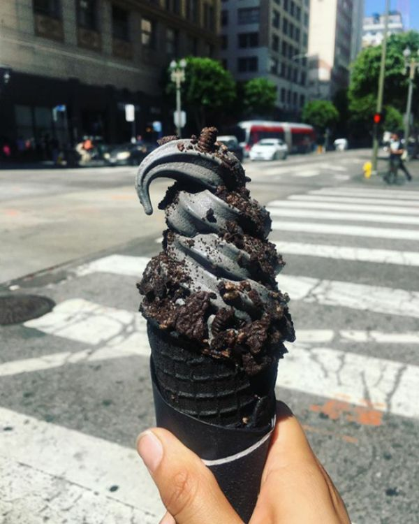 Black Ice Cream Has Finally Arrived