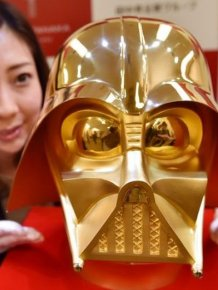 A Gold Darth Vader Mask Is For Sale In Japan