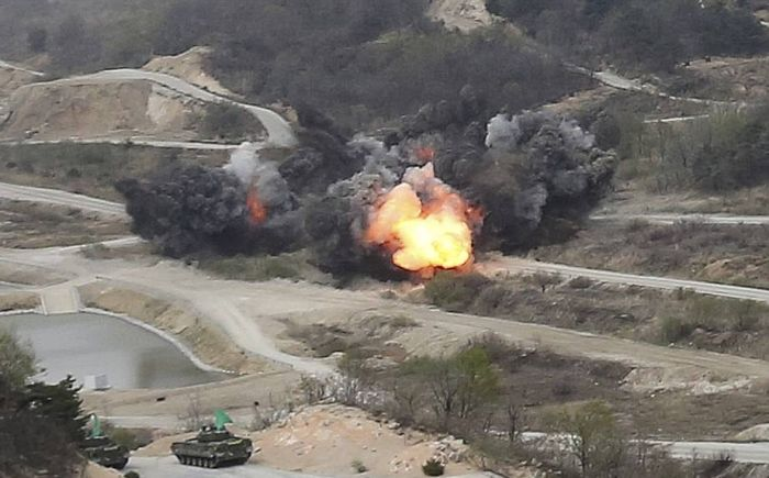 North Korea Holds Its Largest Live Fire Artillery Drill