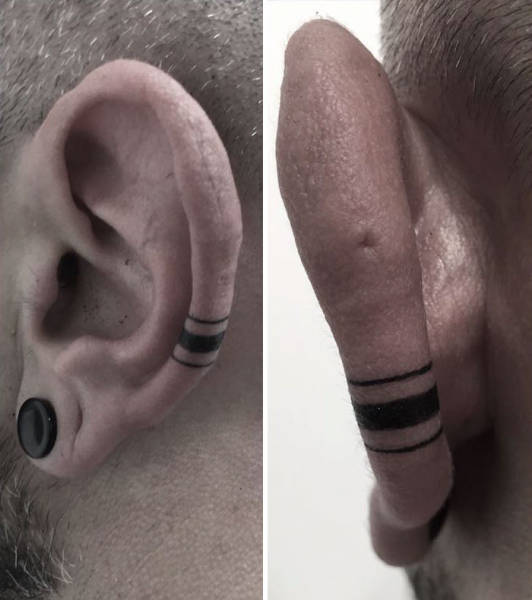 The Helix Tattoo Trend Is Starting To Catch On