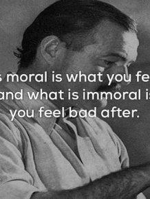 Ernest Hemingway Truly Was A Wise Man