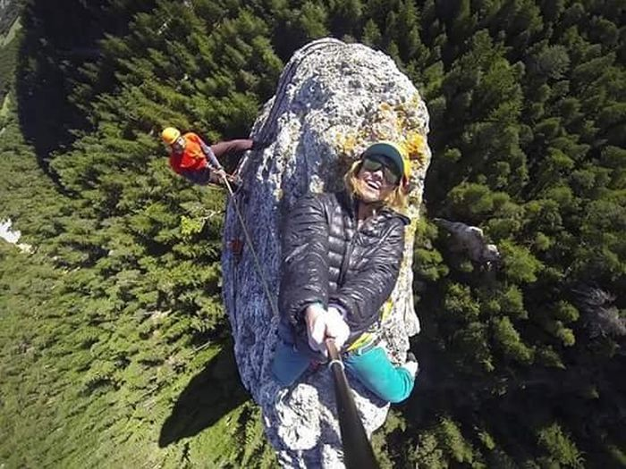 Woman Takes An Extreme Selfie