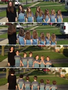 Mom And Her 6 Sons Donate 17 Feet Of Hair To Kids In Need