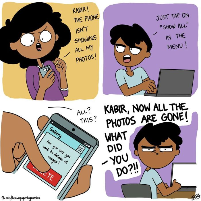 Illustrator Hilariously Captures What It's Like Growing Up In An Indian Family