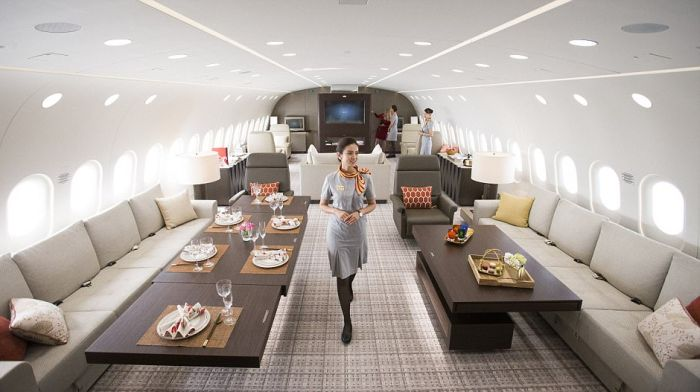 This Private Jet Is Basically A Flying Penthouse