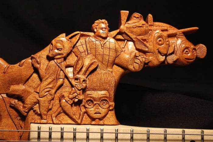 This Pixar Themed Guitar Took 200 Hours To Make