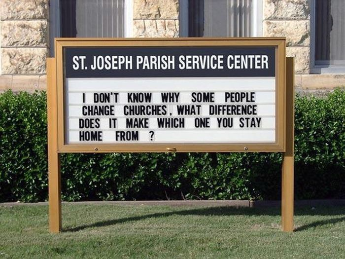 The Funniest Church Signs The Internet Has To Offer