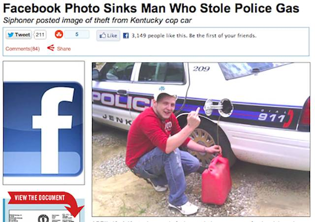 Dumb People Who Admitted Their Crimes Via Facebook