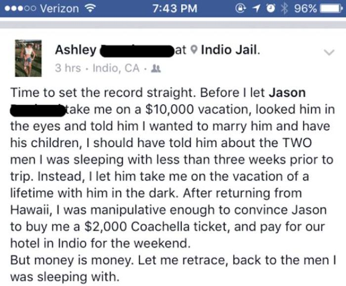 Guy Shares His Cheating Girlfriend's Story On Facebook