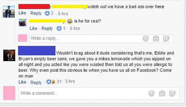Guy Gets Owned By His Friends After Bragging On Facebook