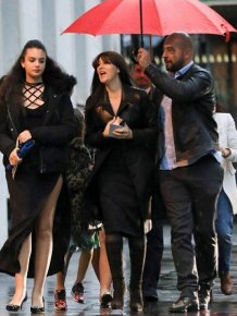 Monica Belluci Spotted Walking With Her Daughters