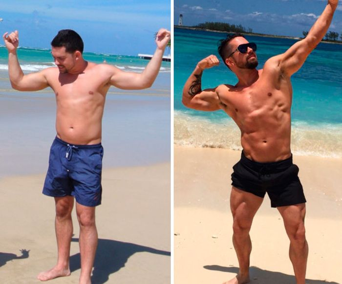 Before And After Fitness Transformations Show People Who Got Ripped