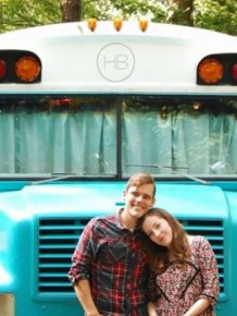 Georgia Couple Turn Old Blue Bird School Bus Into Home On Wheels
