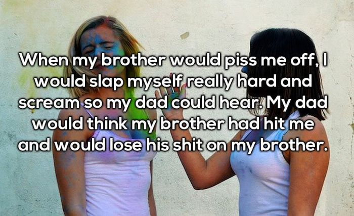 People Confess To The Worst Thing They Blamed Their Sibling For