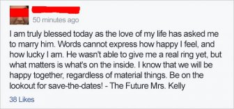 Couple Accidentally Makes A Big Announcement With Engagement Photo