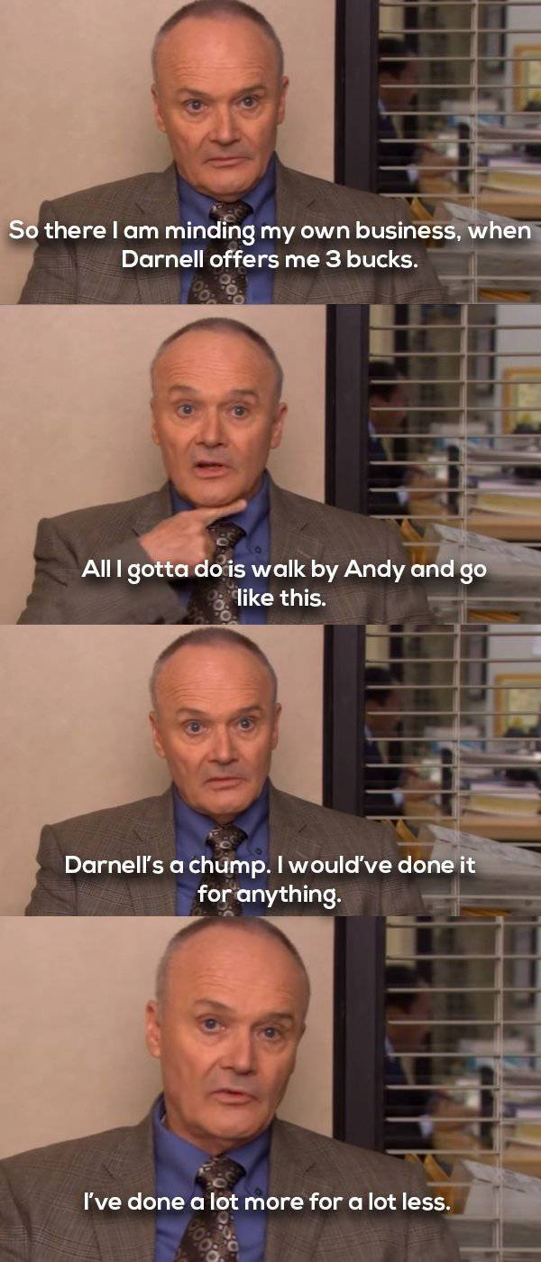 Creed Bratton's Weird Humor Is Absolutely Hilarious