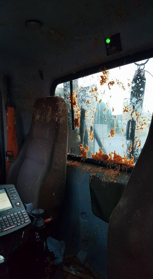 Mail Truck Gets Destroyed By Spaghetti
