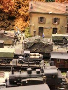 Impressive Diorama Of German Railway Station