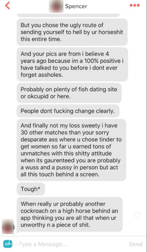Tinder Match Goes Off On Guy For A Very Specific Reason