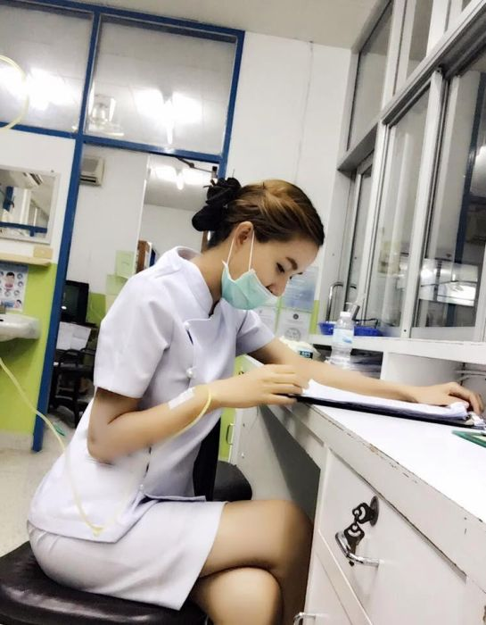 Hot Nurse Claims She Was Forced To Quit Her Job