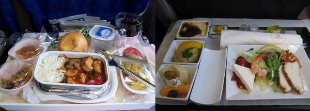 The Food In Business Class Is Twice As Good As Economy Class