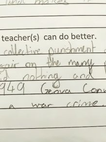 Young Girl's Response To Teacher's Punishment Is Going Viral