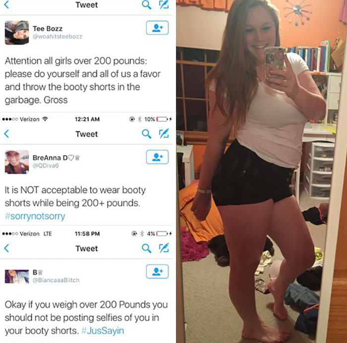 Girl Has Perfect Response For What Women Over 200 Lbs Shouldn't Wear