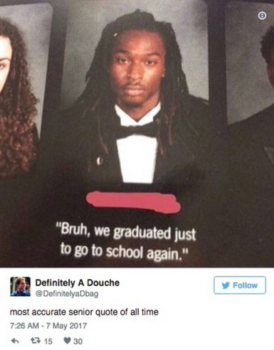 The Funniest Senior Quotes Of 2017, part 2017