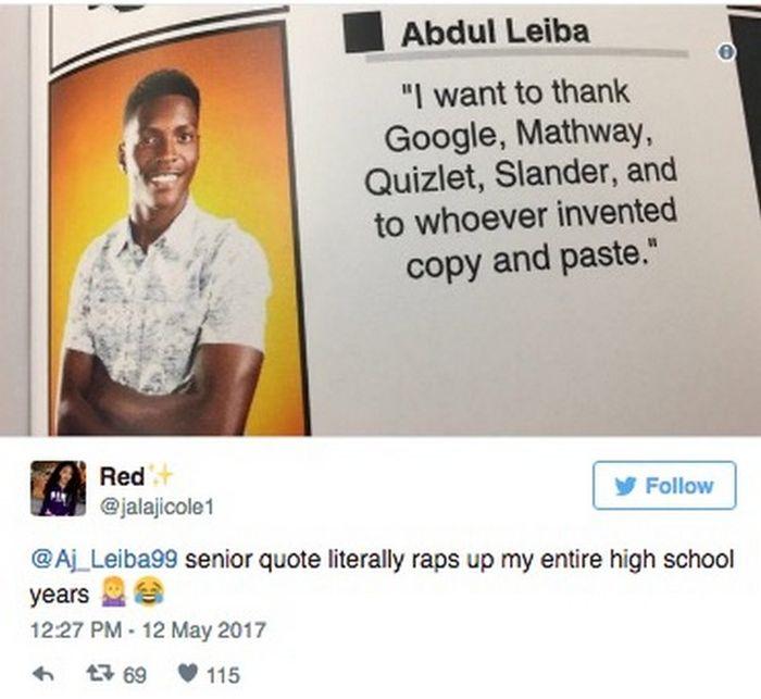 Funny Senior Quotes 2017